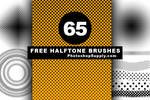 Halftone Brushes for Photoshop by PsdDude