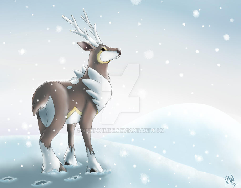 pokemon sawsbuck winter coloring pages - photo#35
