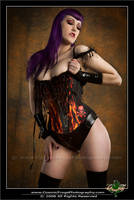 Flame Corset by NatalieAddams