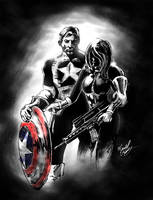 Steve Rogers and Sharon Carter by FlashElectron