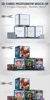 3D Cubes Photoshow Mock-up