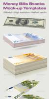 Money Bills stacks Mock-up