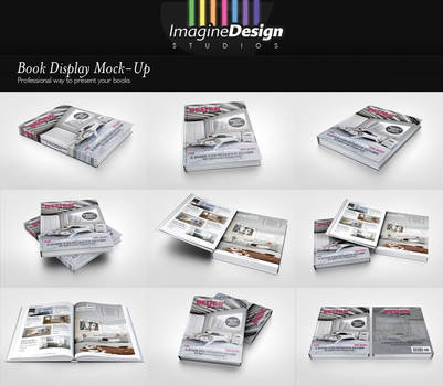 Book Display Mock-Up by idesignstudio