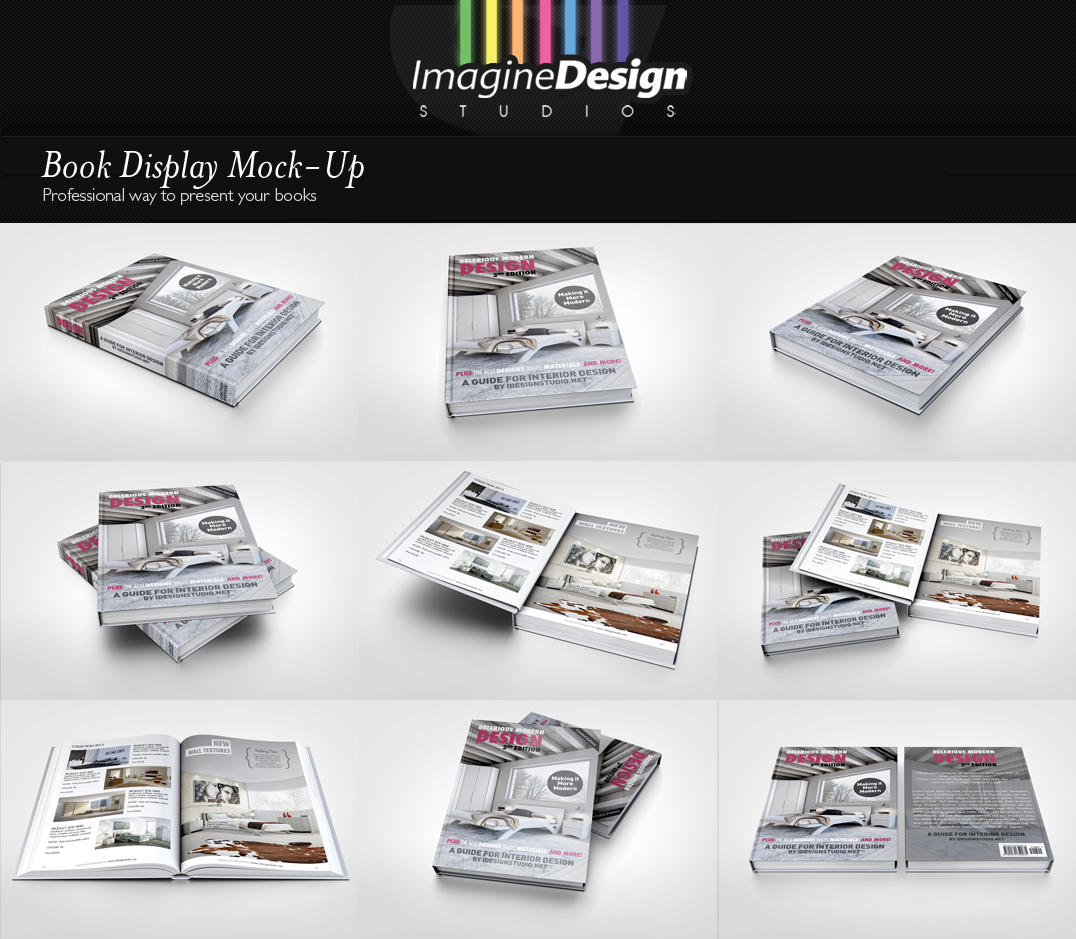 Book Display Mock-Up by idesignstudio