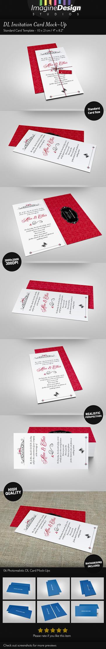 DL Invitation Card Mock-Up by idesignstudio