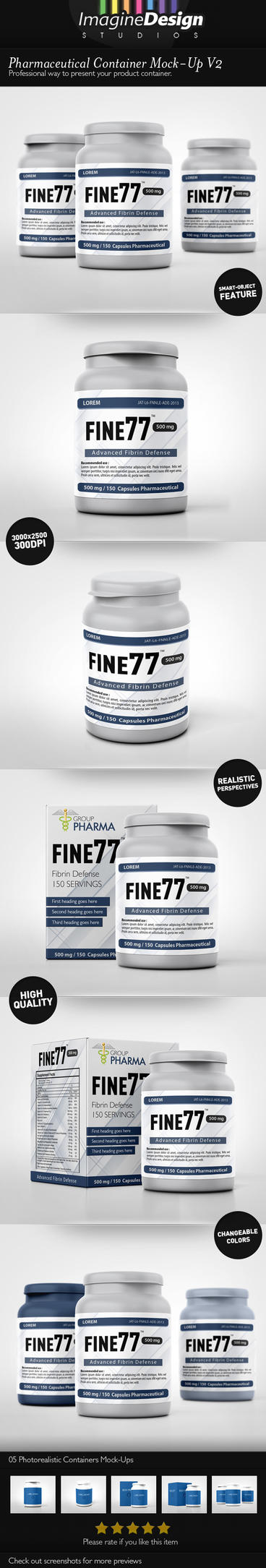 Pharmaceutical Container Mock-Up V2 by idesignstudio