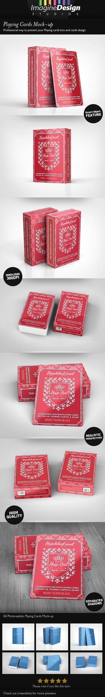 Playing Cards Mock-up by idesignstudio