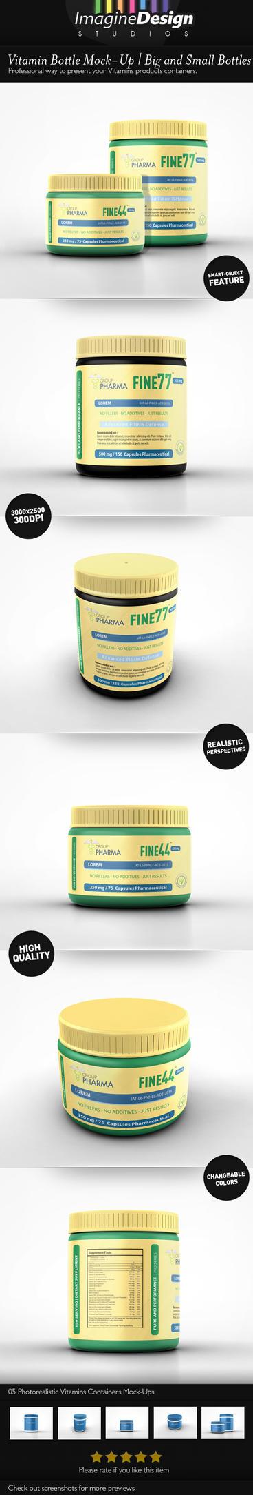 Vitamin Bottle Mockup by idesignstudio