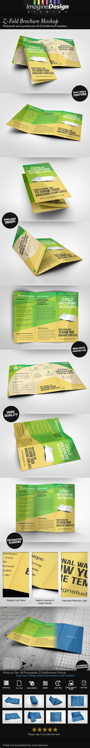 Z-Fold Brochure Mockup by idesignstudio