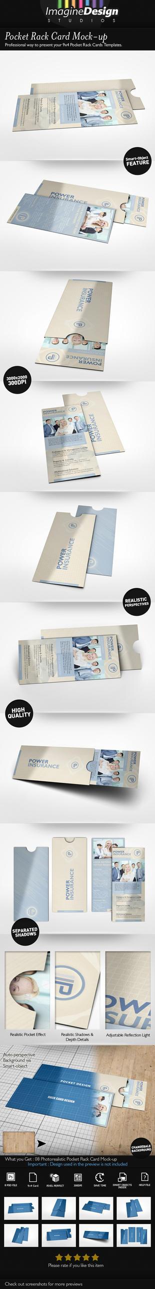 Pocket Rack Card Mock-up by idesignstudio