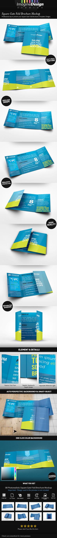 Square Gate Fold Brochure Mockup by idesignstudio