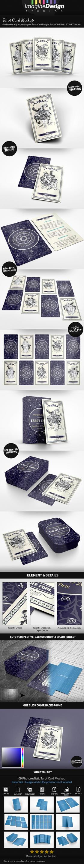 Tarot Card Mockup by idesignstudio