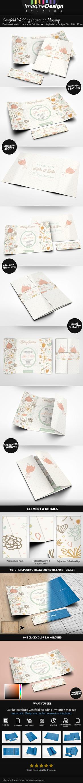 Gatefold Wedding Invitation Mockup by idesignstudio