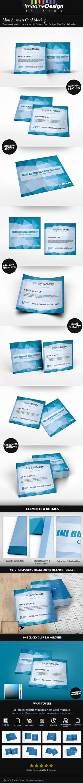 Mini Business Card Mockup by idesignstudio