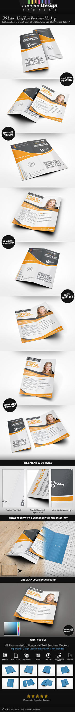 US Letter Half-Fold Brochure Mockup by idesignstudio