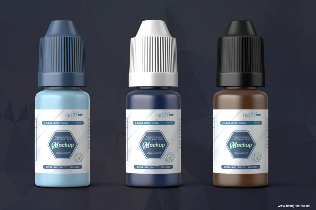 E-liquid Bottle Mockup by idesignstudio