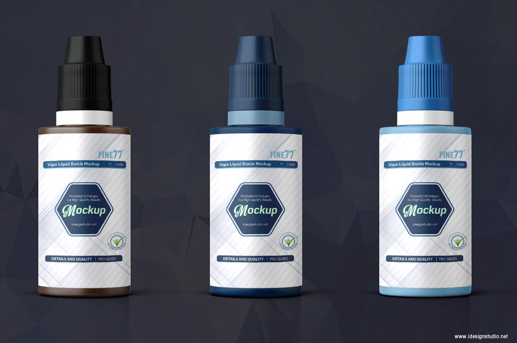 Vape Liquid Bottle Mockup by idesignstudio