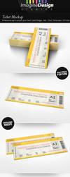 Ticket Mockup by idesignstudio