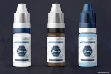 E-liquid Bottle Mockup V2 by idesignstudio