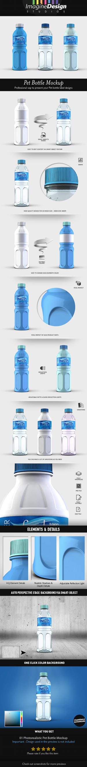 Pet Bottle Mockup by idesignstudio