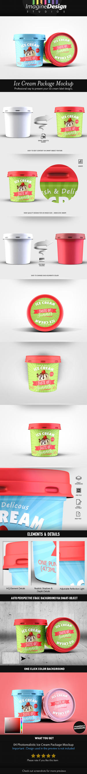 Ice Cream Package Mockup by idesignstudio