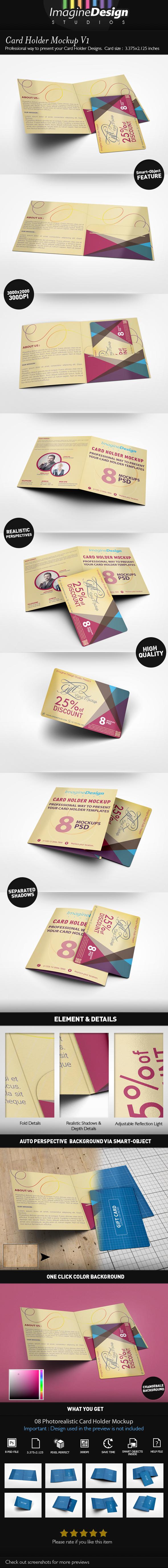 Card Holder Mockup V1 by idesignstudio