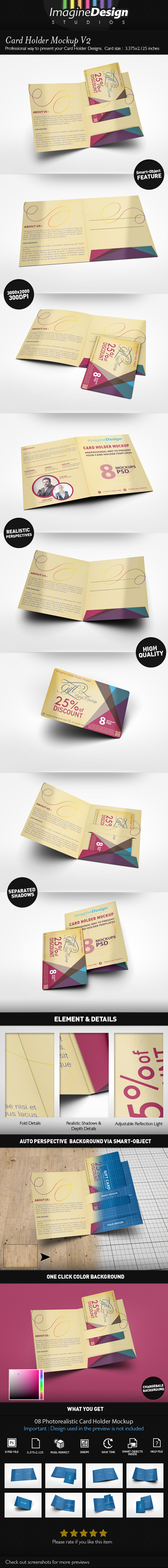 Card Holder Mock-up V2 by idesignstudio