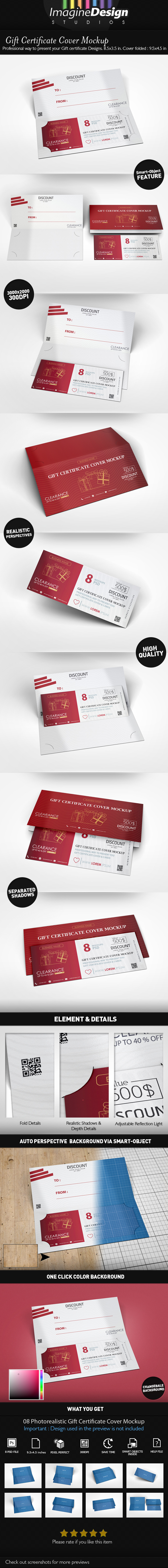 Gift Certificate Cover Mock-up by idesignstudio