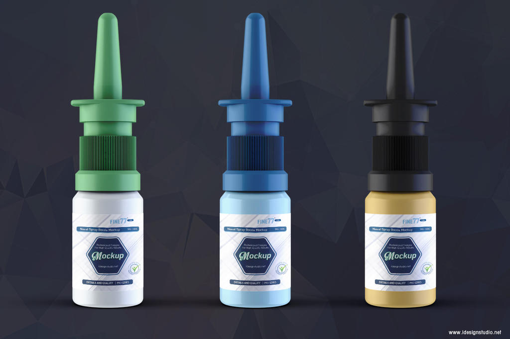 Nasal Spray Bottle Mockup by idesignstudio