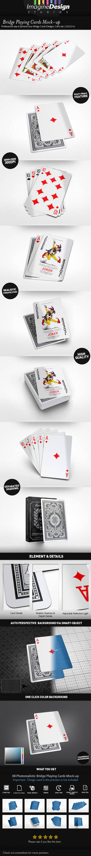 Bridge Playing Cards Mock-up by idesignstudio