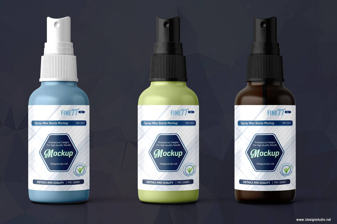 Spray Mist Bottle Mock-up by idesignstudio