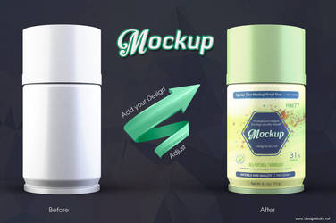 Spray Can Mockup Small Size by idesignstudio