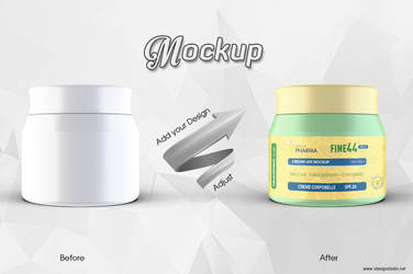 Cosmetic Jar Mockup 300 Ml