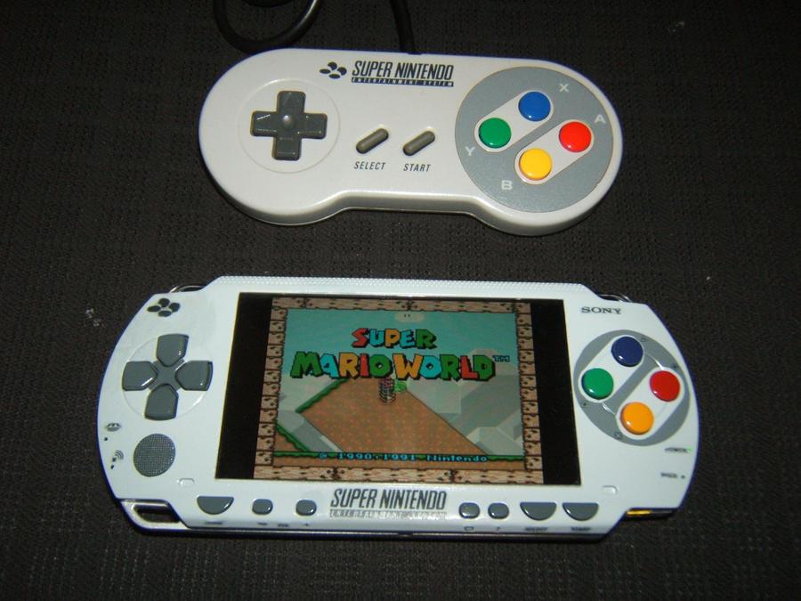 The SNES-PSP (Custom faceplate) by K4Z1