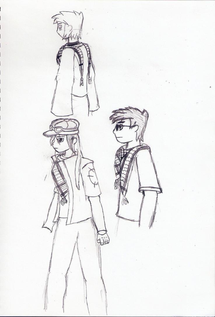 Keffiyeh Practice Sketch by jtlim