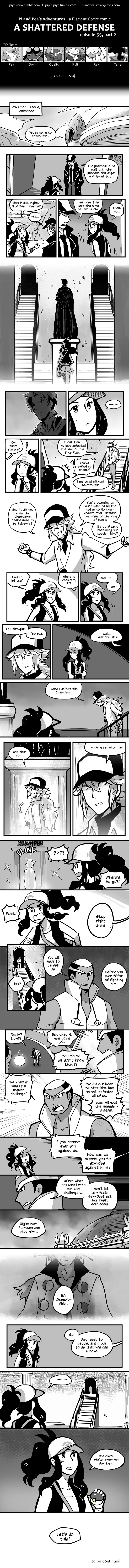 Pi and Pea's Nuzlocke Adventures :: Comics - 55 - A Shattered