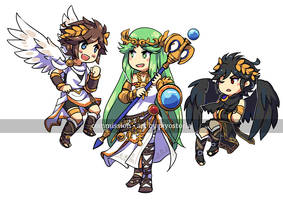 Commission for trigris - Kid Icarus by piyostoria