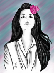 Lana Del Rey - Digital Painting