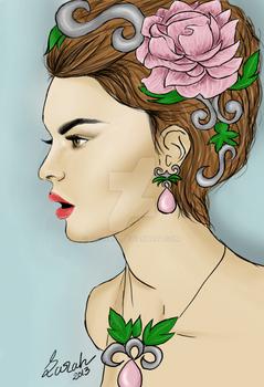 Lady Portrait - digital painting