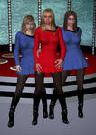 Big Bang Bernadette Penny And Amy by SciFiZone