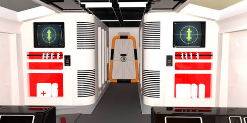 Moonbase Alpha Transporter Eagle Passenger Module by SciFiZone