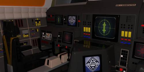Moonbase Alpha Transporter Eagle Cockpit by SciFiZone