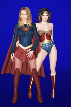 Wonder Woman and Supergirl Pinup2
