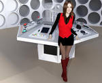 Clara In Her Tardis by SciFiZone