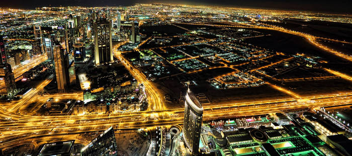Dubai by the night