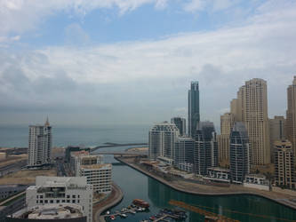 Dubai Marina view from the balcony