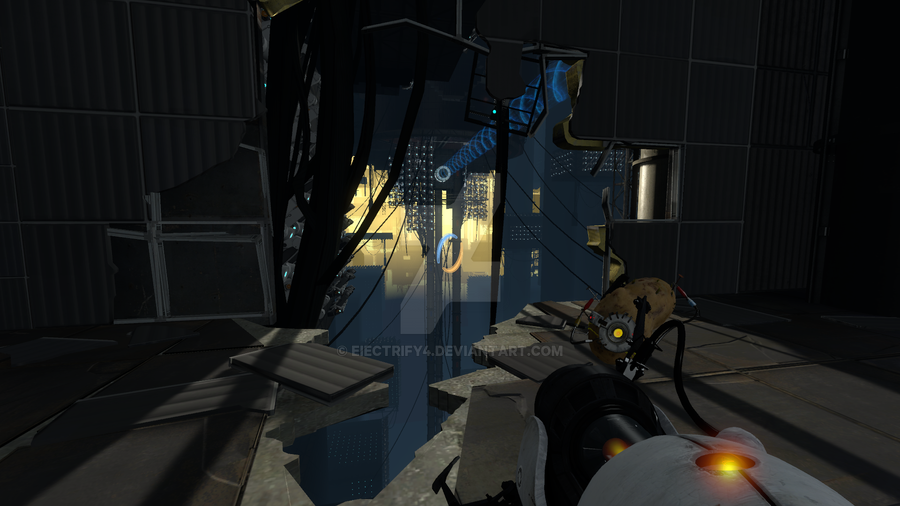 Portal 2 gameplay screen shot 1 by darkcat1999