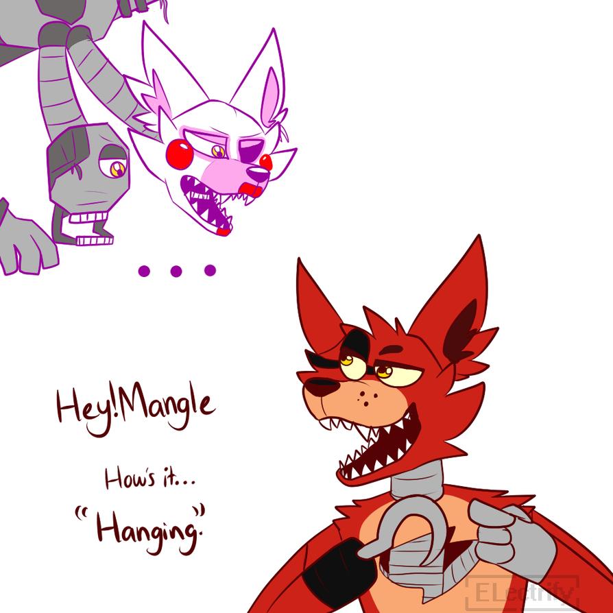 Mangle And Foxy by darkcat1999