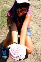 Arale's pink crap by Fiore-di-Luna