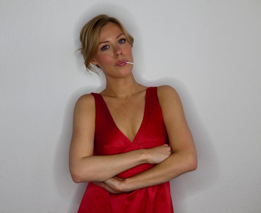 Stock Model Red Dress by lavandularufus
